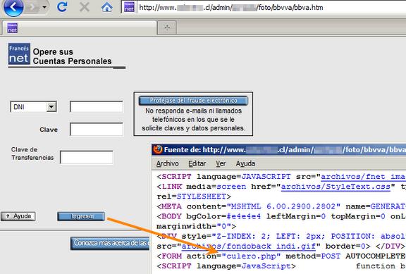 Phishing al banco bbva frances argentina seguridad for Pagina del banco exterior