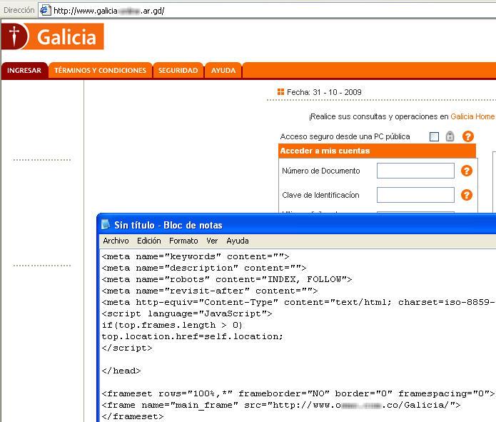 Phishing seguridad inform tica p gina 51 for Pagina del banco exterior